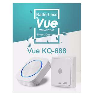 Vue Batteryless Door Bell - KQ688 (can add on receiver or transmitter)