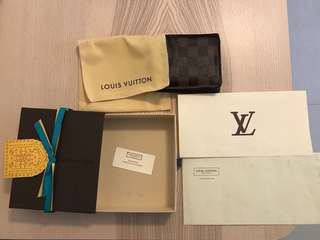 Authentic LV Wallet with dust bag, gift box and receipt with date of purchase