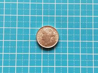 Strait settlement Queen Victoria 10 cent coin 1898 AU-UNC