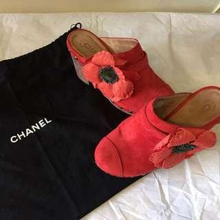 照價再八折 二手正貨 Chanel 楔楔鞋