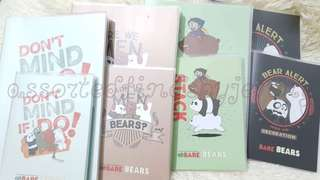 we bare bears notebook with cover