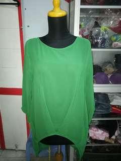 Blus hijau jumbo