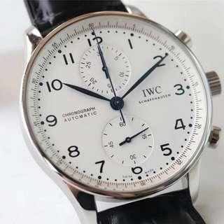 萬國IWC-葡萄牙系列 IW371446 機械男錶藍針計時碼錶