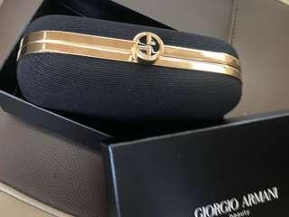 Giorgio Armani 手提box或化妝袋 100%正貨全新 連原裝盒 共有兩個👝 有一布面 有一皮令面