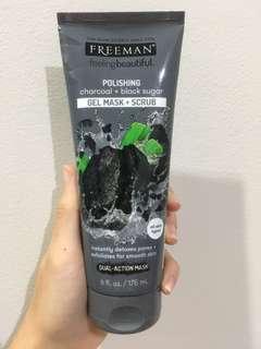 Polishing Charcoal + Black Sugar (GEL MASK + SCRUB) ( Ready Stock)