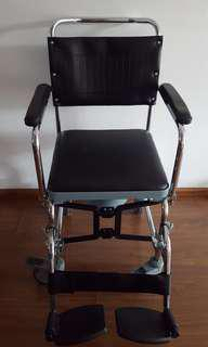 Easy storage parts can be disassembled minimal used commode (bucket never used, arm & leg rests removable)