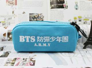 BLUE - BTS Pencil Case / Cosmetic Bag