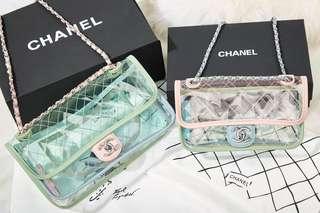 Chanel 頂級版本馬卡龍色果凍PVC包包