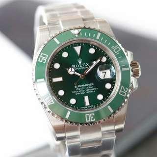 Rolex勞力士 潛航者型系列 綠水鬼潛水錶116610LV 男女自動機械錶