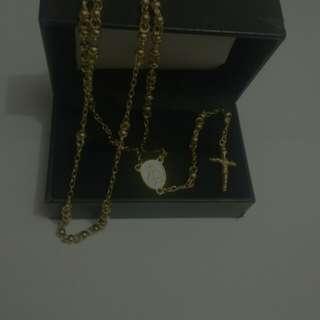 Kalung rosario titanium