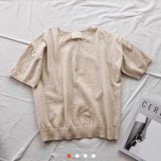 🚚 V領短袖針織衫
