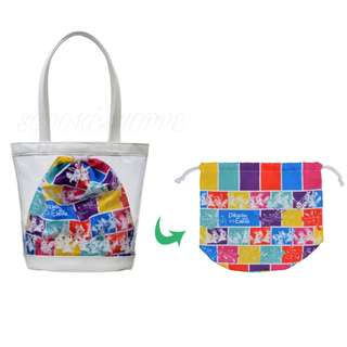 [PO] CLEAR TOTE BAG WITH DRAWSTRING POUCH [SCIENCE IS AMAZING] - POKEMON CENTER EXCLUSIVE