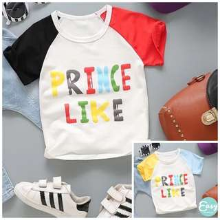 Kids Boy Graphic Tee Casual Prince Like Graphic T-Shirt