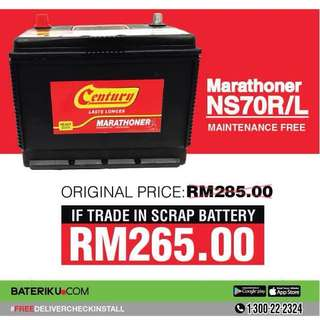 Car Battery Bateri Kereta Century Marathoner