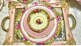 Pink Gold Mirror Tray/ Serving Tray