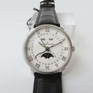 Blancpain寶珀經典系列全自動機械男錶真皮6654-1127-55B
