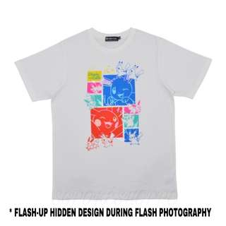 [PO] PIKACHU FLASH PHOTOGRAPHY T-SHIRT [SCIENCE IS AMAZING] - POKEMON CENTER EXCLUSIVE