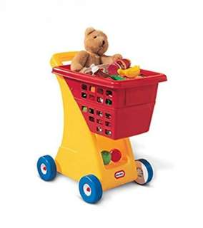 BN Little Tikes Supermarket Grocery Shopping Cart Trolley - Yellow/Red