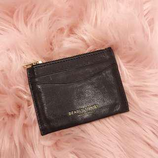 DEADLY PONIES leather card holder