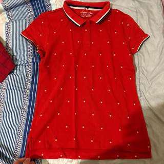 giordano polo tshirt red natural slim