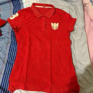 giordano polo red tshirt natural slim
