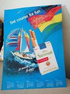 Obsolete brand Peter Stuyvesant advert poster