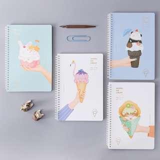 Animal Ice Cream Spiral Ruled Notebook B5