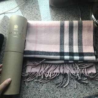 Burberry scarf 圍巾 粉色 pink