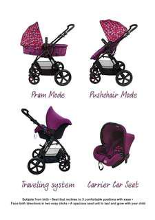 Baby Stroller + carrier car seat