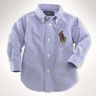 Polo Long Sleeve Shirt - Blue