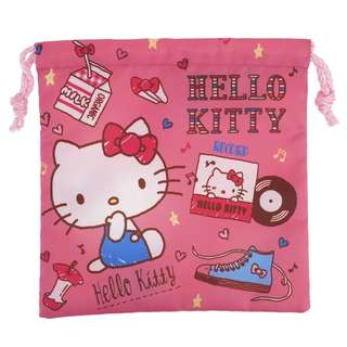 Hello Kitty Drawstring Bag (S) 索繩袋 (細)  (包平郵或郵局自取)