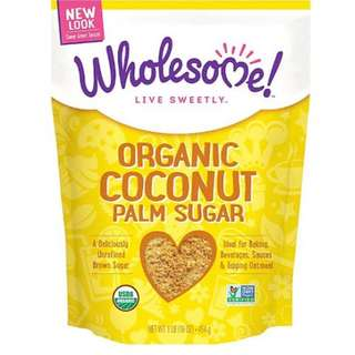 Wholesome Sweeteners Organic Coconut Palm Sugar 有機天然椰糖 (1lb 454g)