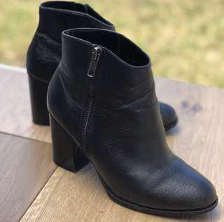 Leather Ankle Boots - Size 36