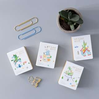 Pot Plant House Mini Plain Memopad