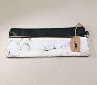 Typo Pencil Case Marble