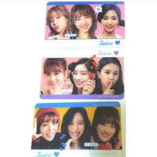 Twice韓國透明飯卡