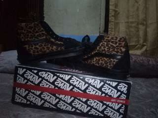 Vans sk8 high leopardmade in china