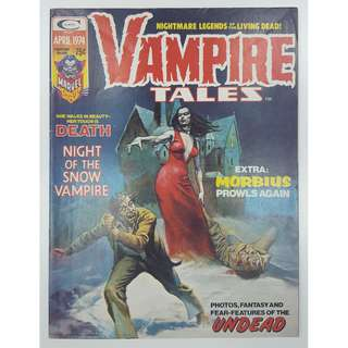 Vampire Tales #4 (1974, 1st Series) Guest- Starring Morbius! Giant Sized Big-Ass Issue!! Rare Book, in Black & White!