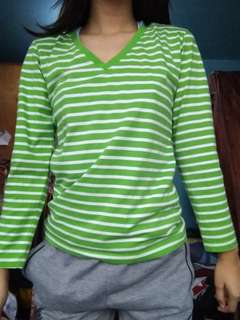 Green stripes Long sleeve (Personal Collection)