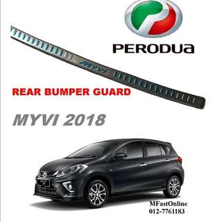 PERODUA MYVI 2018 REAR BUMPER GUARD OUTER ( 2 IN 1 )