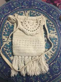 Crochet Cream Bag