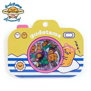 Japan Sanrio Gudetama 5th Anniversary Seal Sticker Summer)