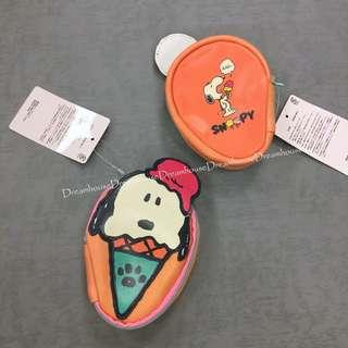 大阪環球影城 史努比 冰淇淋 皮質 飾品 收納包 隨身包 小物包 萬用包