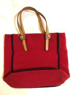 Red knitted bag (from Japan)
