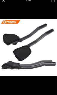 Toseek carbon clip on aero bars matte black