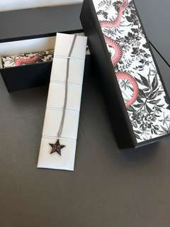 Gucci GG star necklace