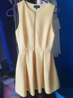 Zip Through Pleated Dress