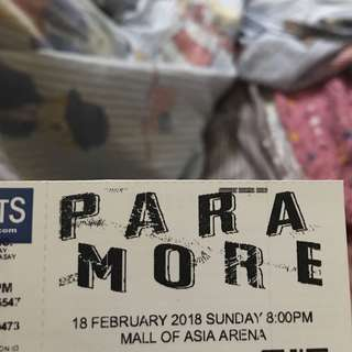 PARAMORE TOUR FOUR GEN AD TICKET