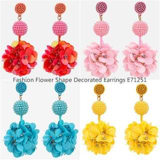 Fashion Flower Shape Decorated Earrings E71251