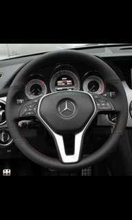 Mercedes Benz w204 c180 c200 steering wheel leather wrap